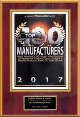 2014 Window and & Magazine's Top 100 Manufacturers Award