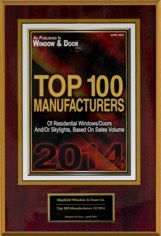 2017 Window and & Magazine's Top 100 Manufacturers Award